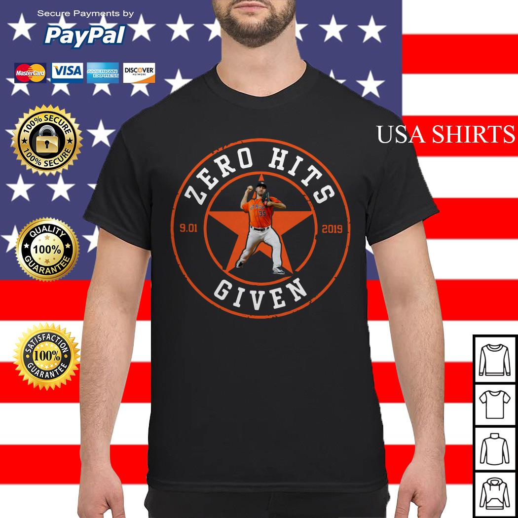 Zero Hits 9 01 2019 given Houston Astros shirt