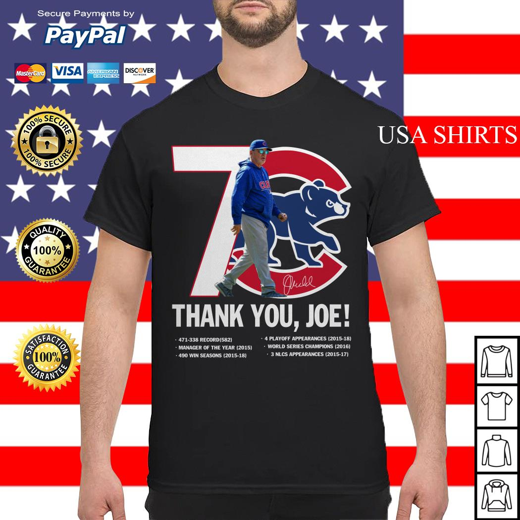 7 Chicago Cubs thank you Joe Maddon Rumors shirt