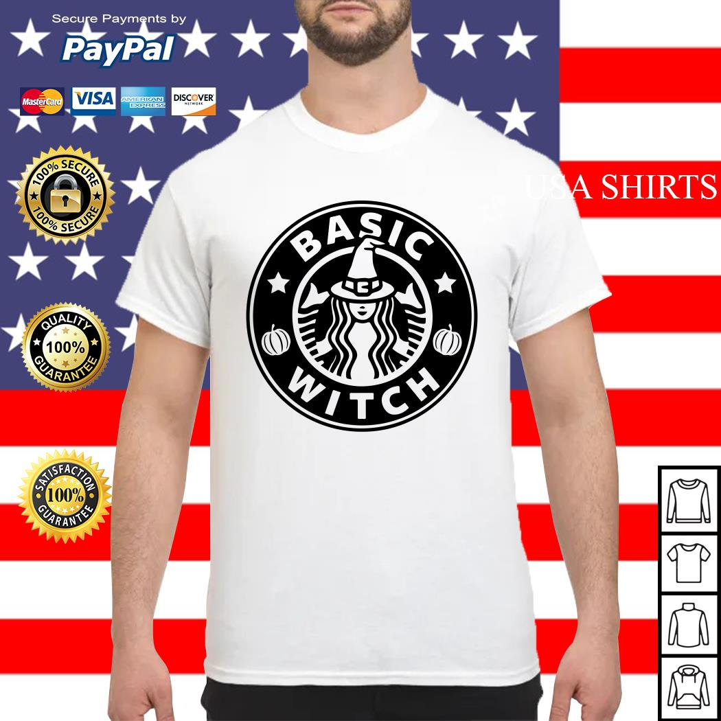 Halloween Starbuck basic witch shirt