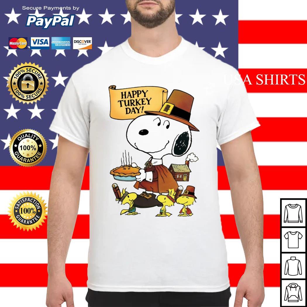 Snoopy happy Turkey day shirt