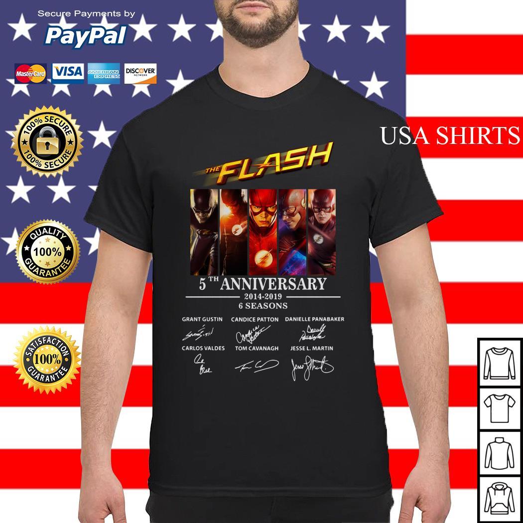 The Flash 5th anniversary 2014 2019 6 seasons signature shirt