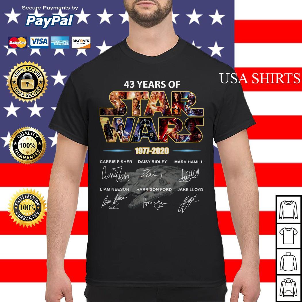 43 years of Star Wars 1977 2020 signature shirt