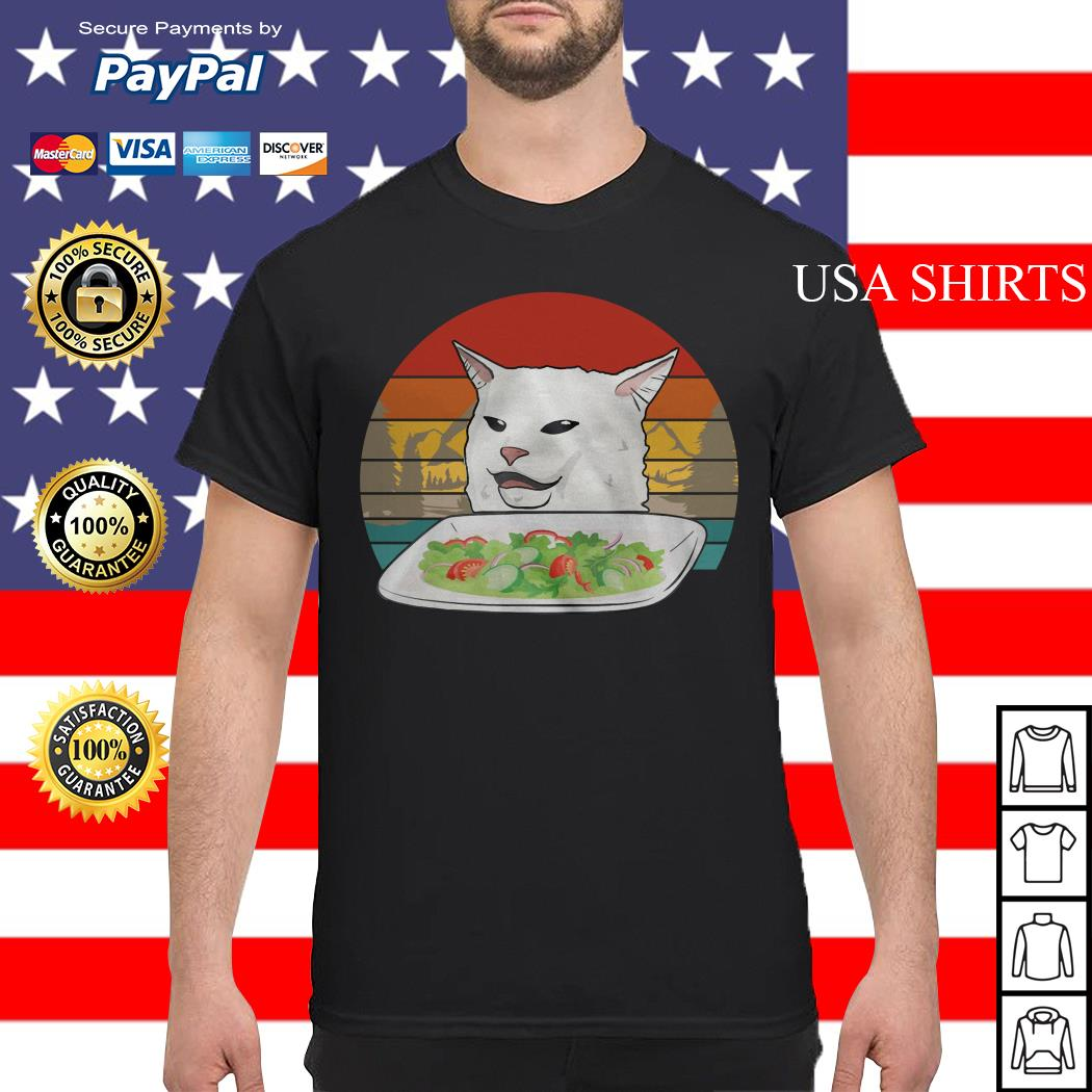 Cat Eating Salad vintage shirt