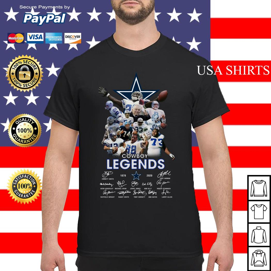 Dallas Cowboy Team legends 1878-2020 signatures shirt