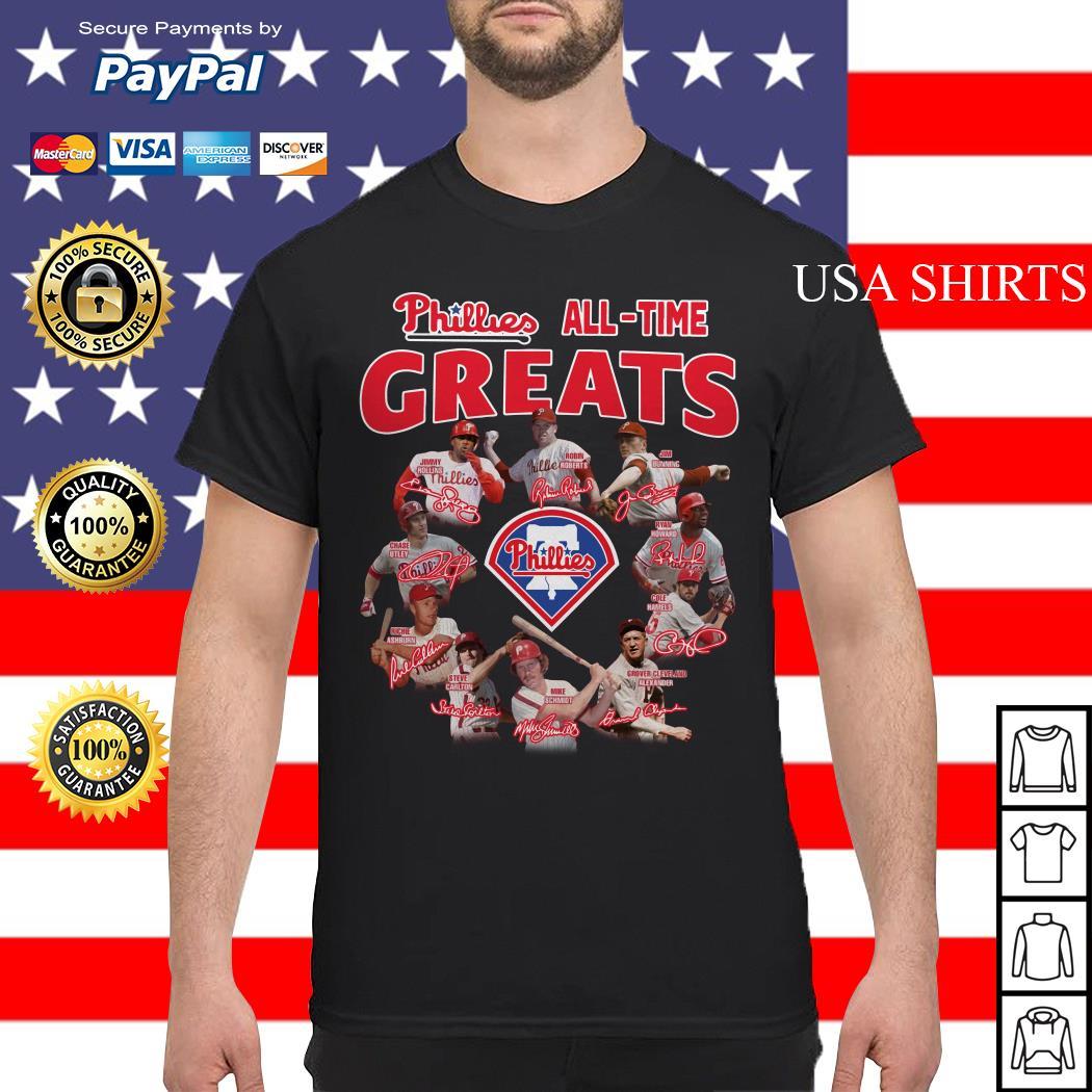 Philadelphia Phillies All-time Greats team signature shirt