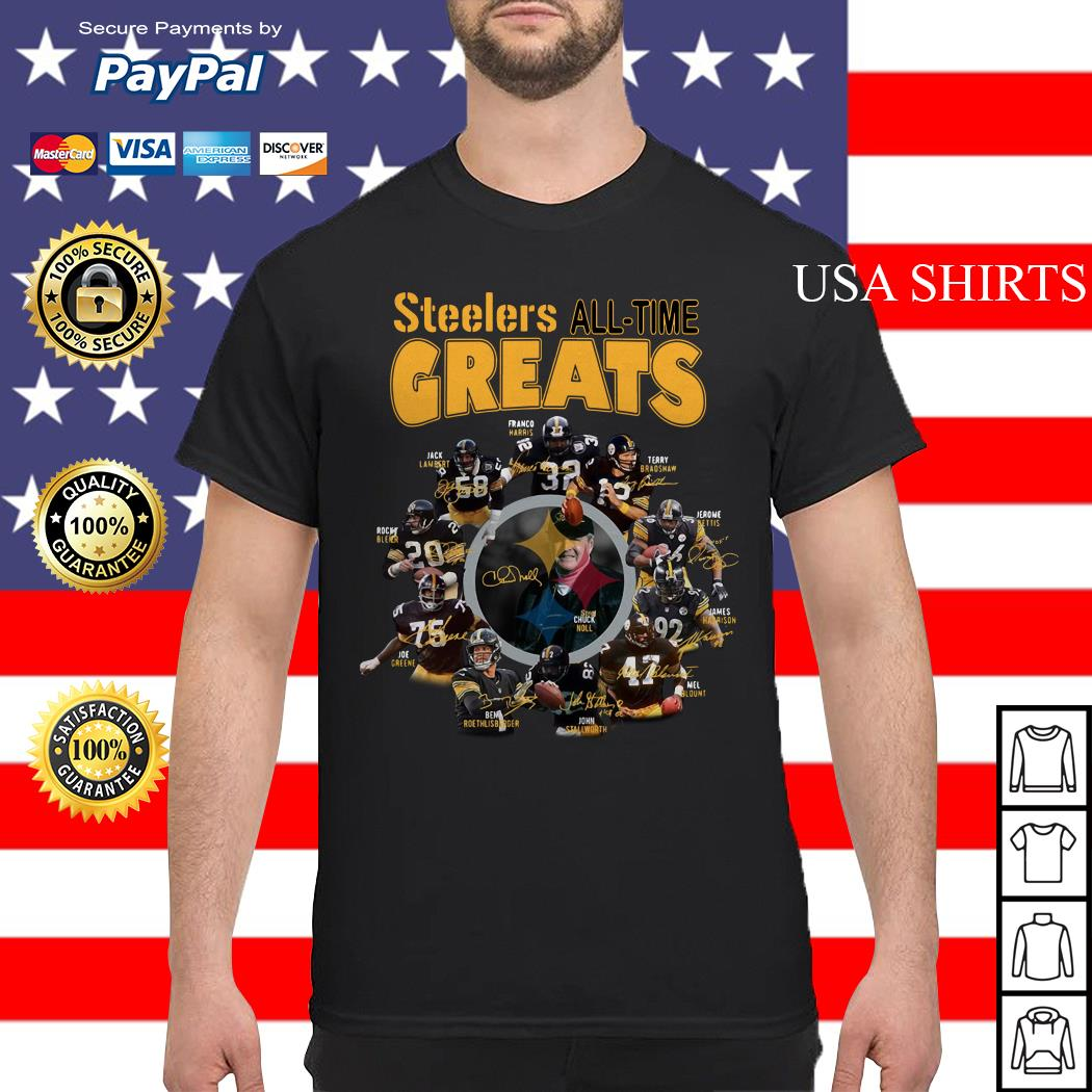 Pittsburgh Steelers all time greats players signatures shirt