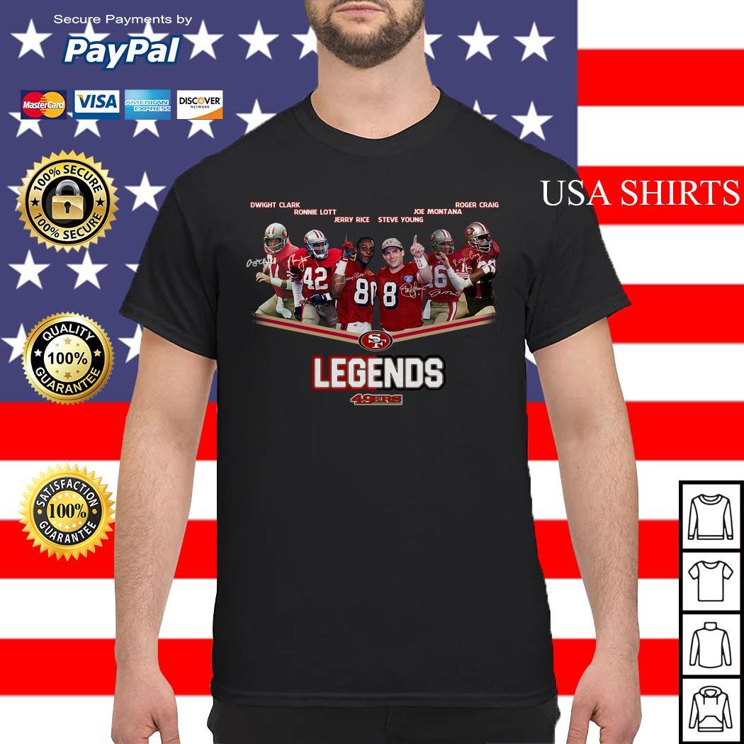 San Francisco 49ers Legends team signatures shirt