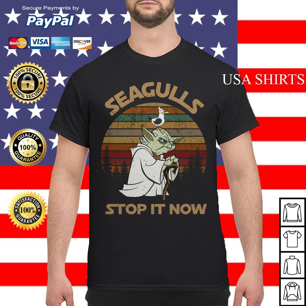 Yoda seagulls stop it now vintage shirt