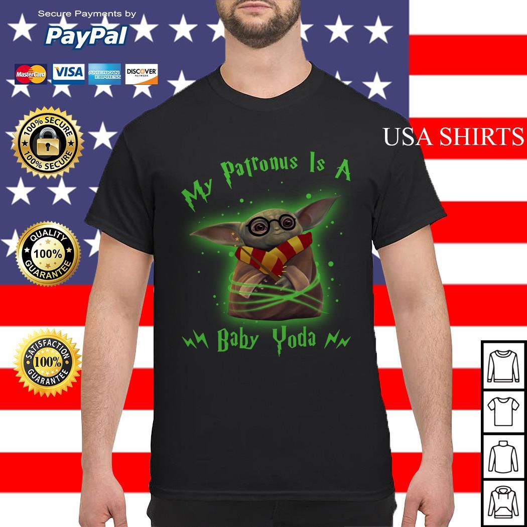 Baby Yoda my patronus is a baby Yoda Harry Potter shirt