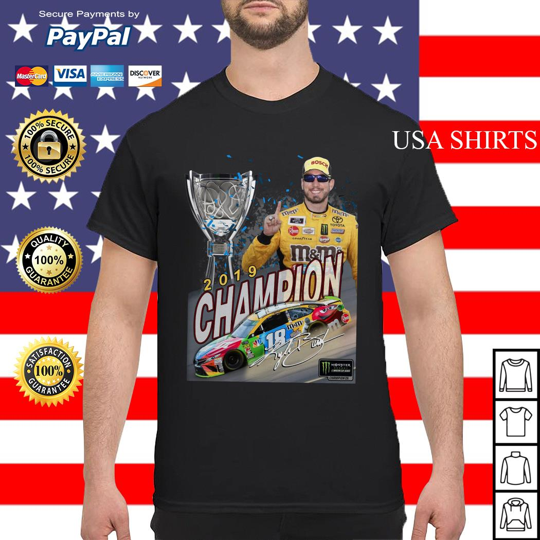 Kyle Busch 2019 Champion Signature Shirt
