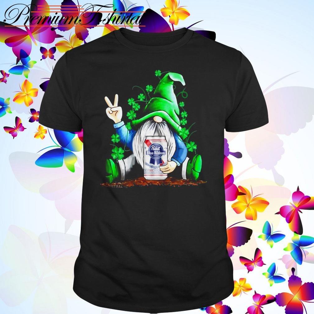 Gnome hug Pabst Blue Ribbon Irish St. Patrick's Day shirt