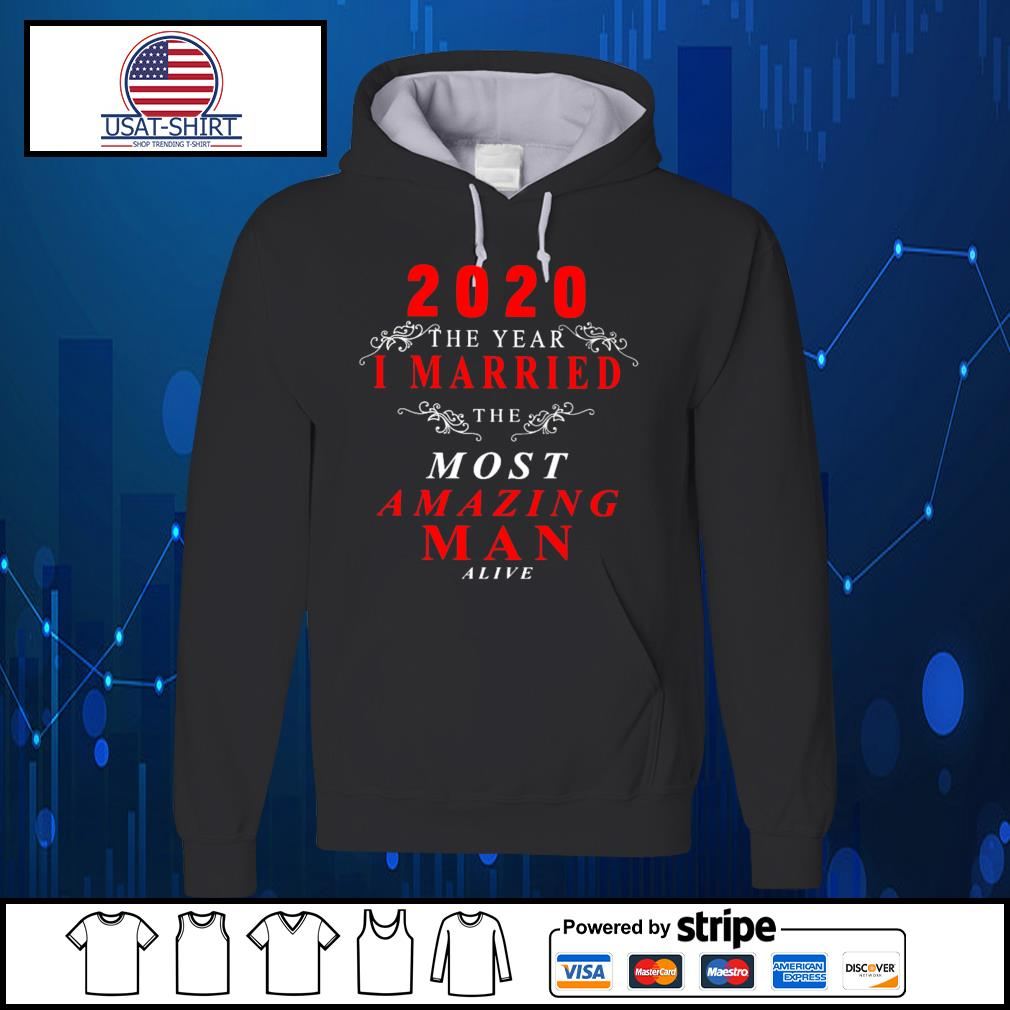 2020 the year I married the most amazing man alive s Hoodie