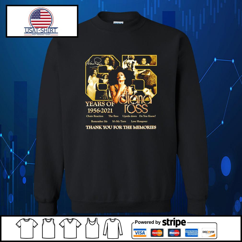 65 years of 1956 2021 Diana Ross thank you for the memories s Sweater