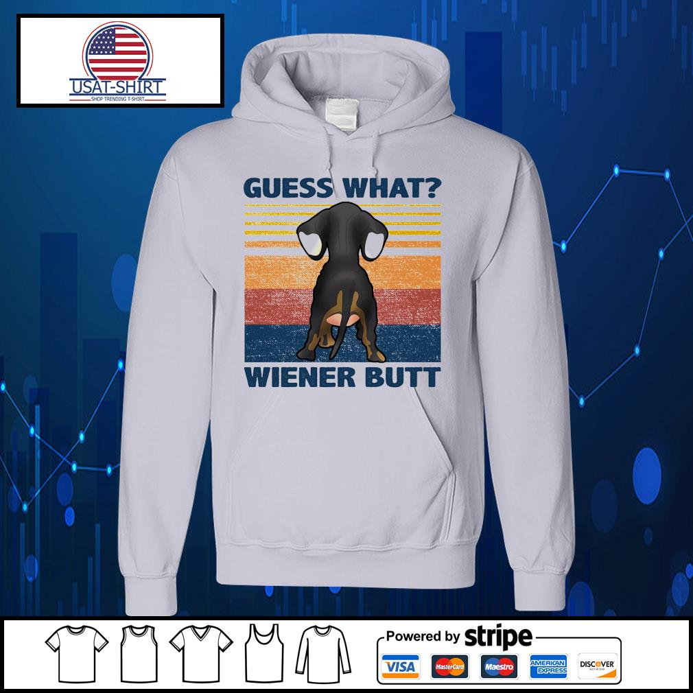 Dachshund guess what wiener butt vintage s Hoodie