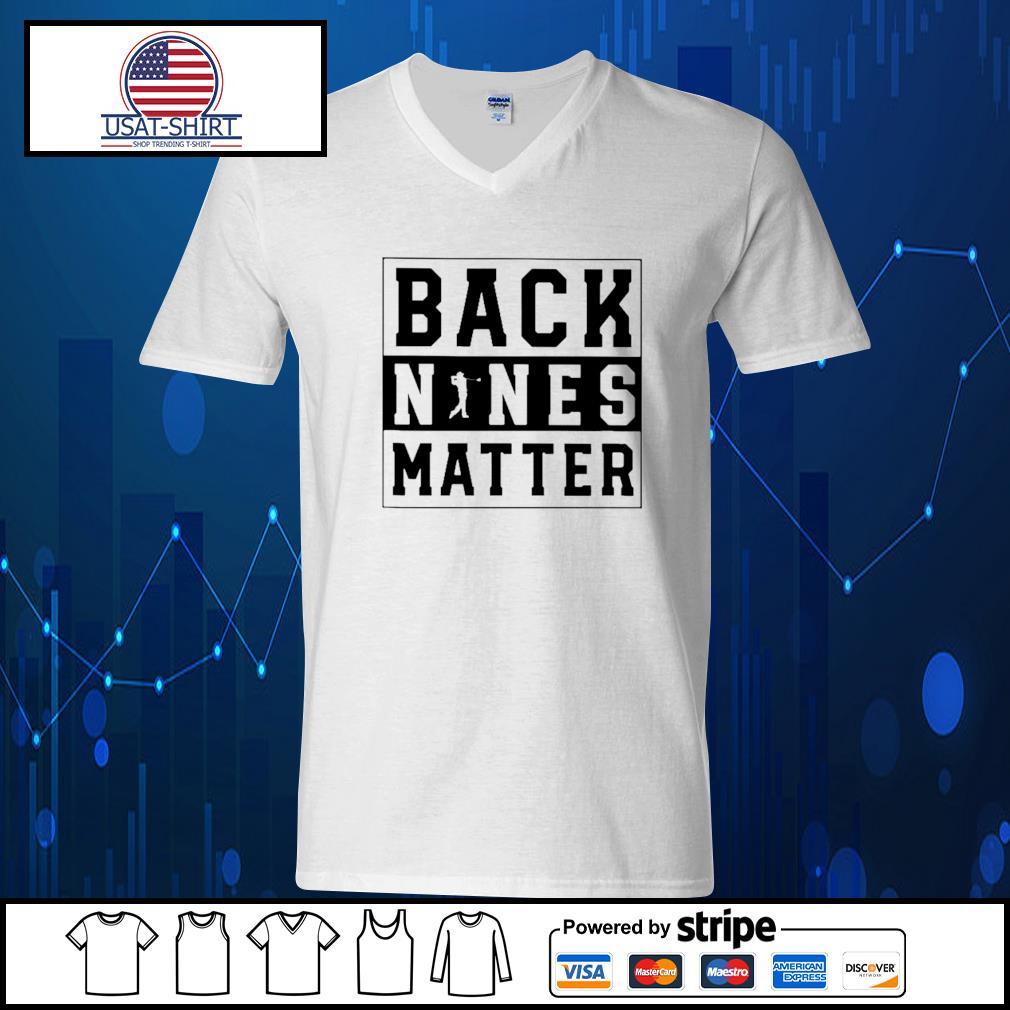 Golf back nines matter s V-neck-T-shirt