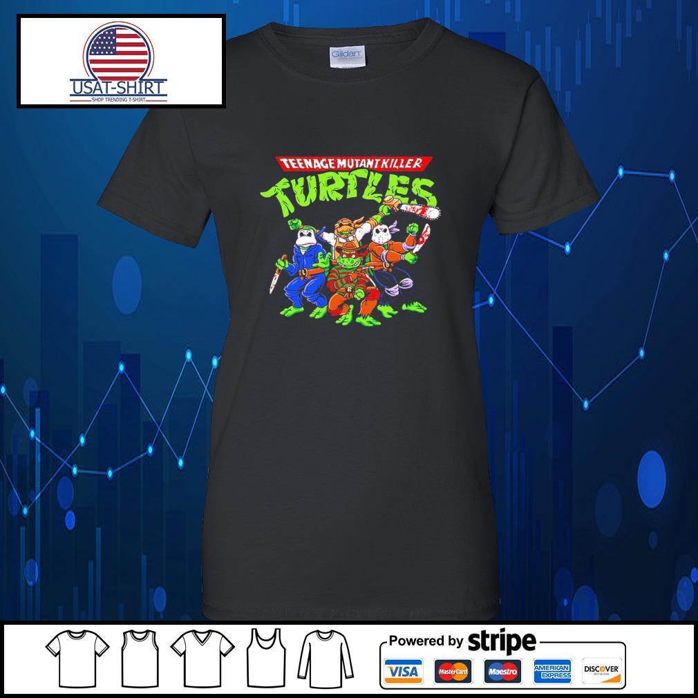 Horror Movie Characters teenage mutant killer Turtles s Ladies-Tee