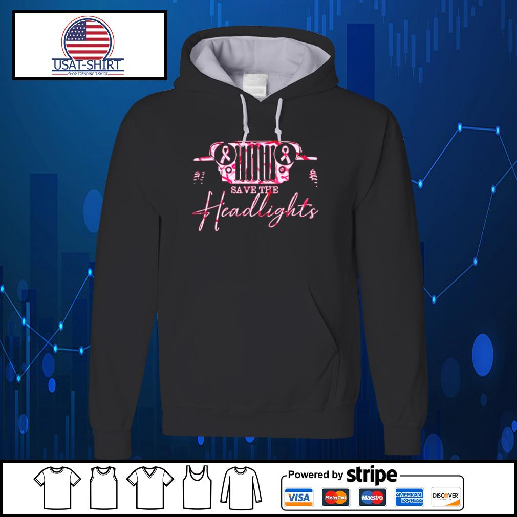 Jeep pink breast cancer Save the headlights s Hoodie