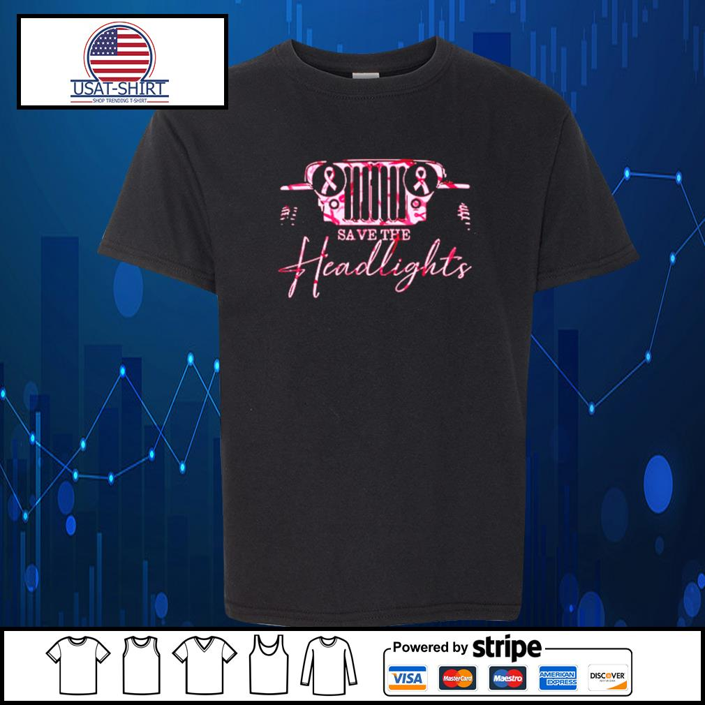 Jeep pink breast cancer Save the headlights s Kid-T-shirt