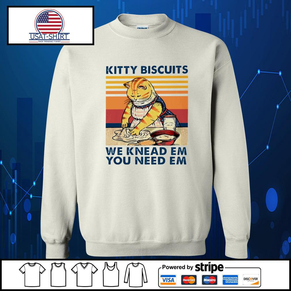 Kitty biscuits we knead em you need em vintage s Sweater