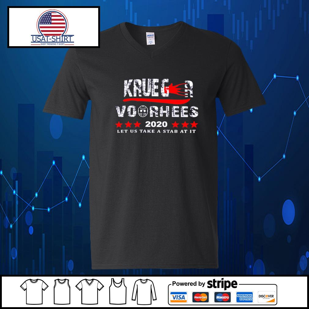 Krueger and Voorhees 2020 let us take a stab at it s V-neck-T-shirt