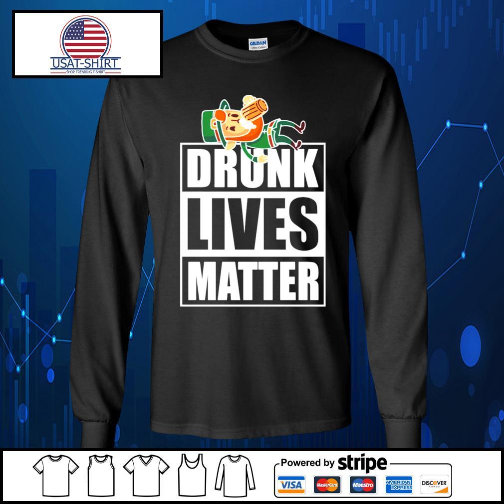 Leprechaun Drunk Lives Matter s Long-Sleeves-Tee
