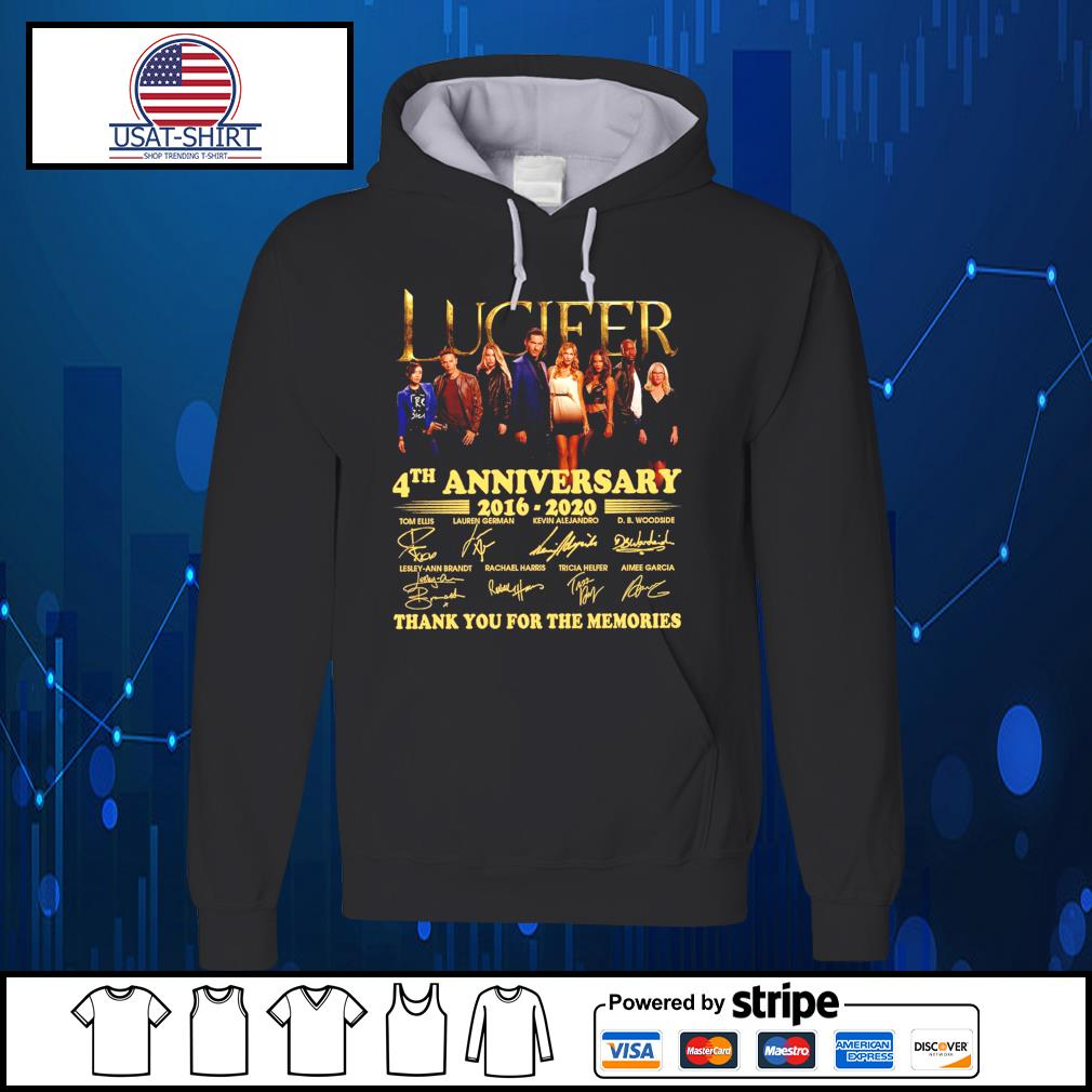 Lucifer 4th anniversary 2016 2020 thank you for the memories s Hoodie