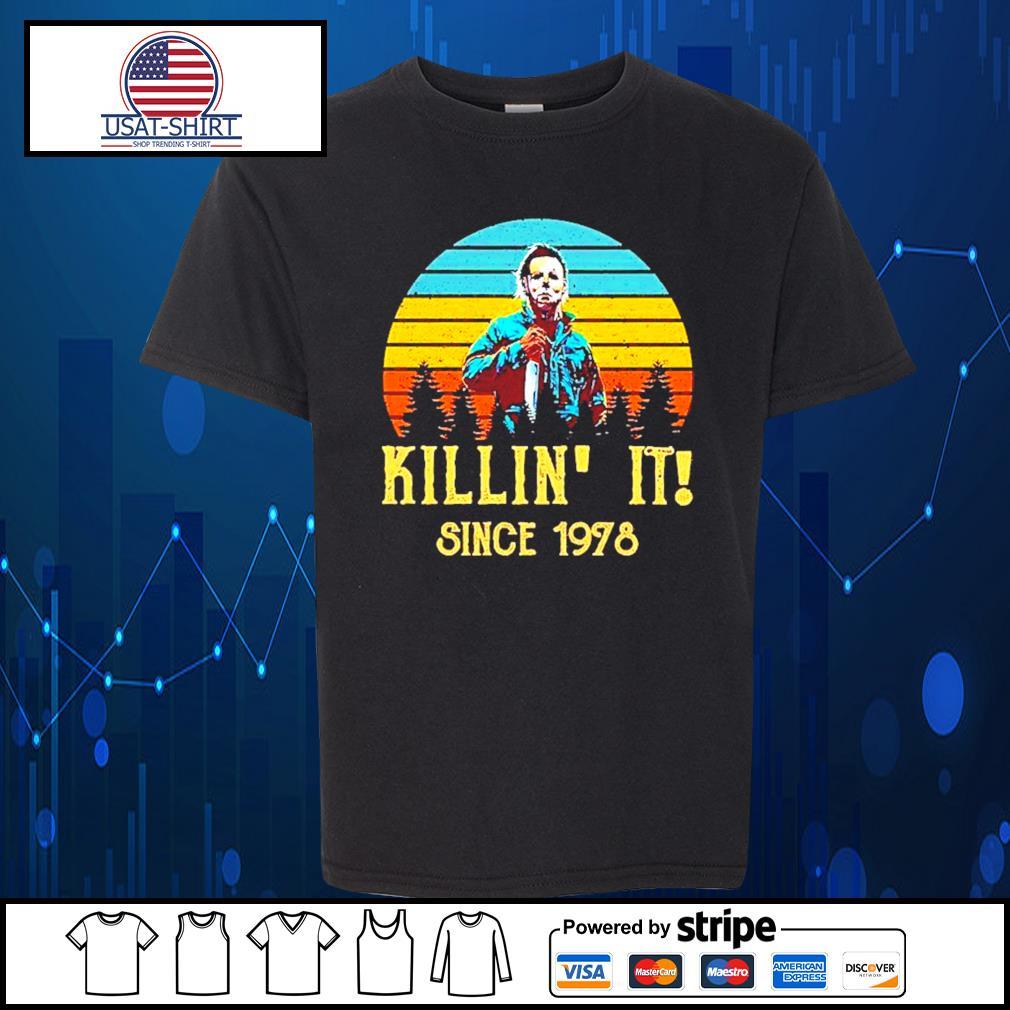 Michael Myers killin' it since 1978 halloween vintage s Kid-T-shirt