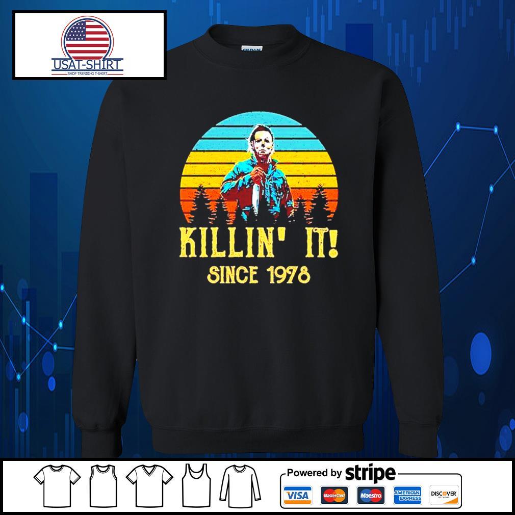 Michael Myers killin' it since 1978 halloween vintage s Sweater