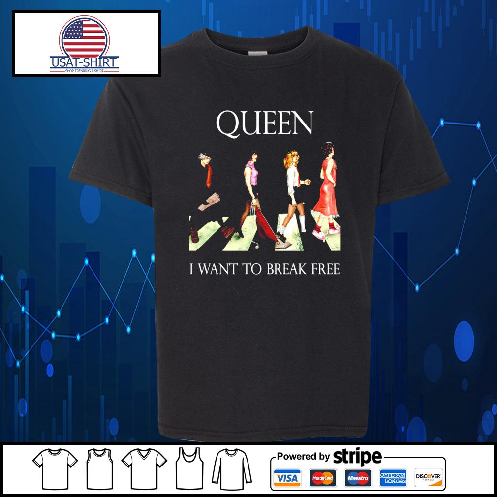 Queen I want to break free abbey road s Kid-T-shirt