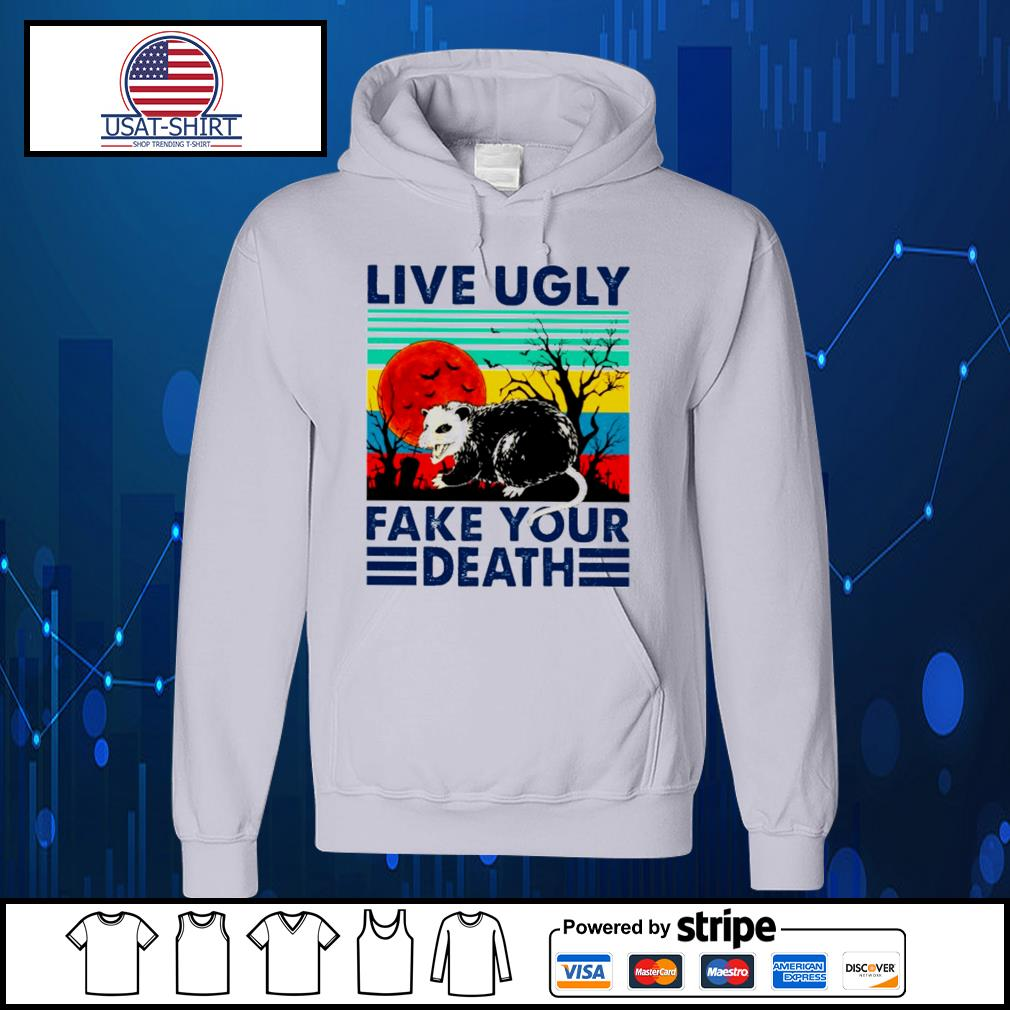 Racoon live ugly fake your death vintage Halloween s Hoodie
