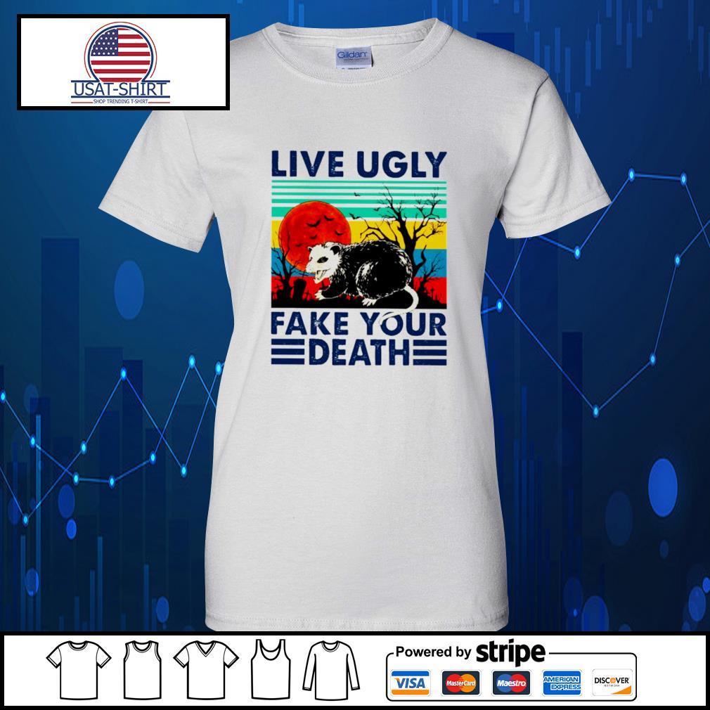 Racoon live ugly fake your death vintage Halloween s Ladies-Tee
