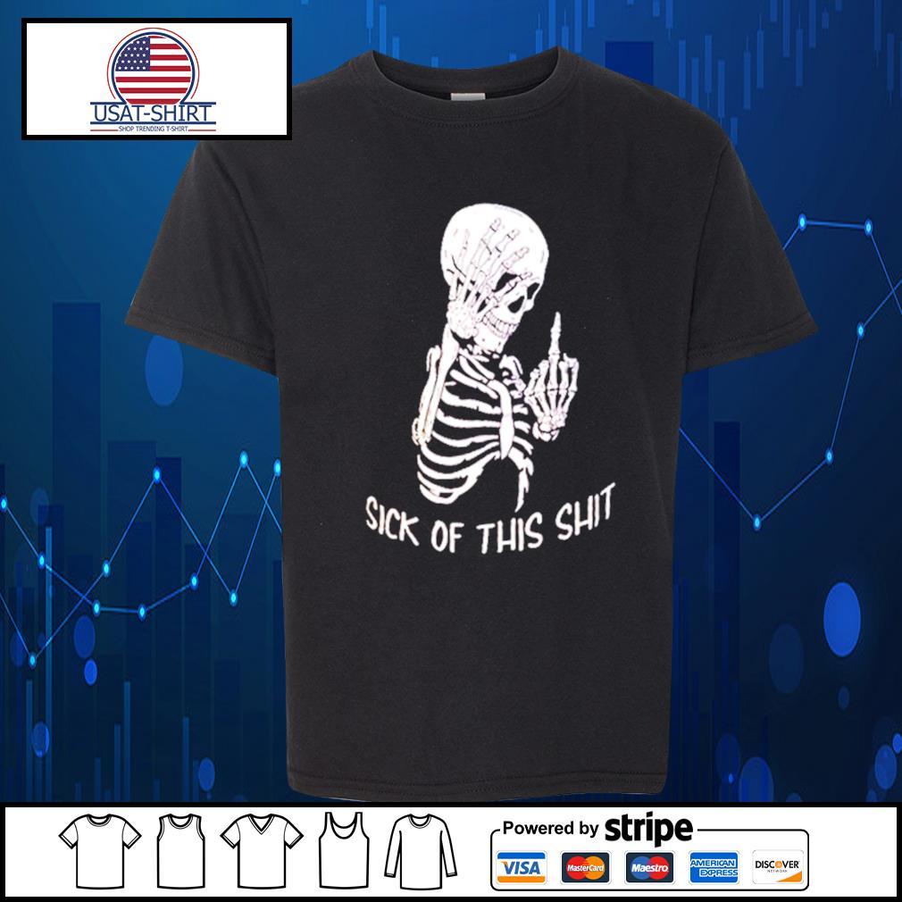 Skellington sick of this shit s Kid-T-shirt