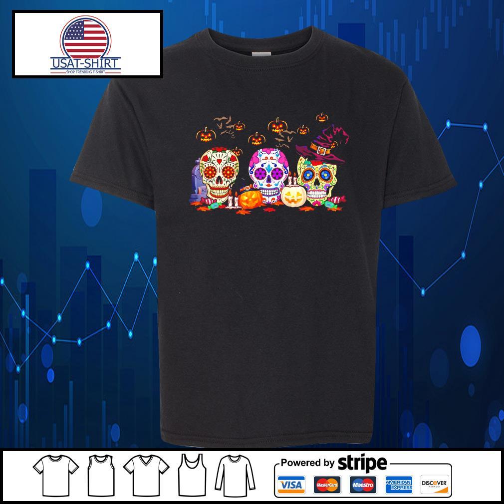 Skulls tattoo witch pumpkin happy Halloween s Kid-T-shirt