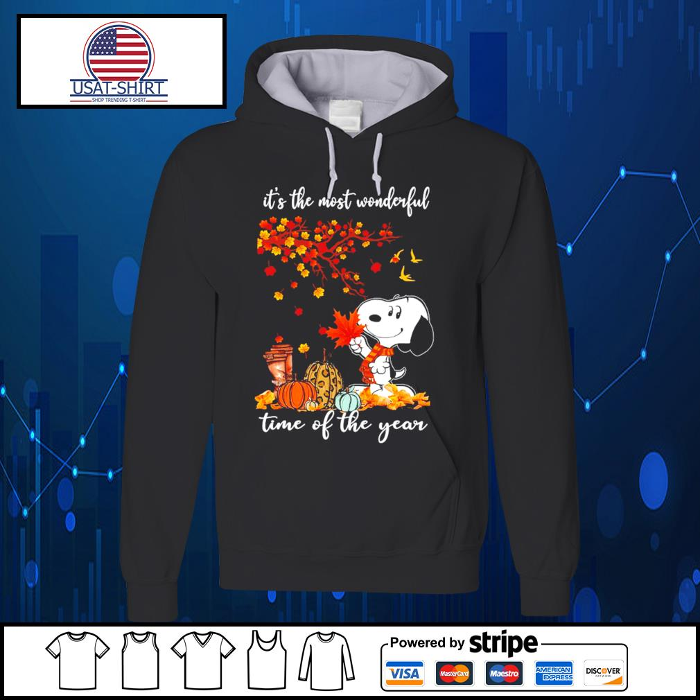 Snoopy it's the most wonderful time of the year s Hoodie