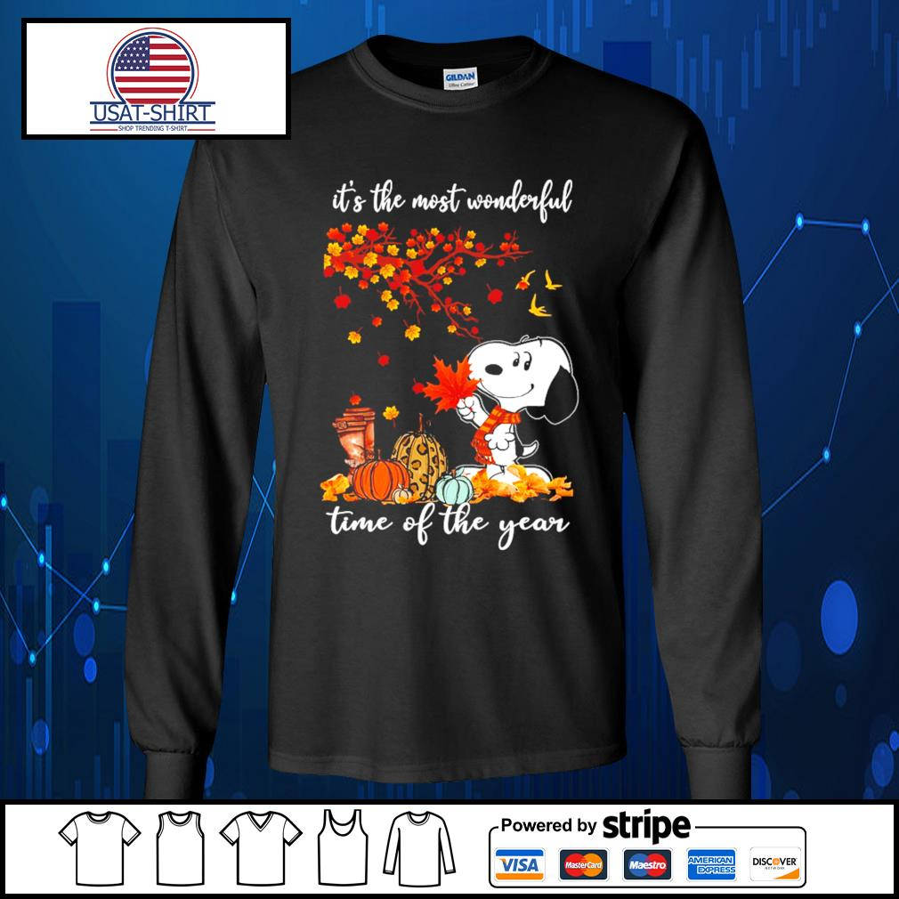 Snoopy it's the most wonderful time of the year s Long-Sleeves-Tee