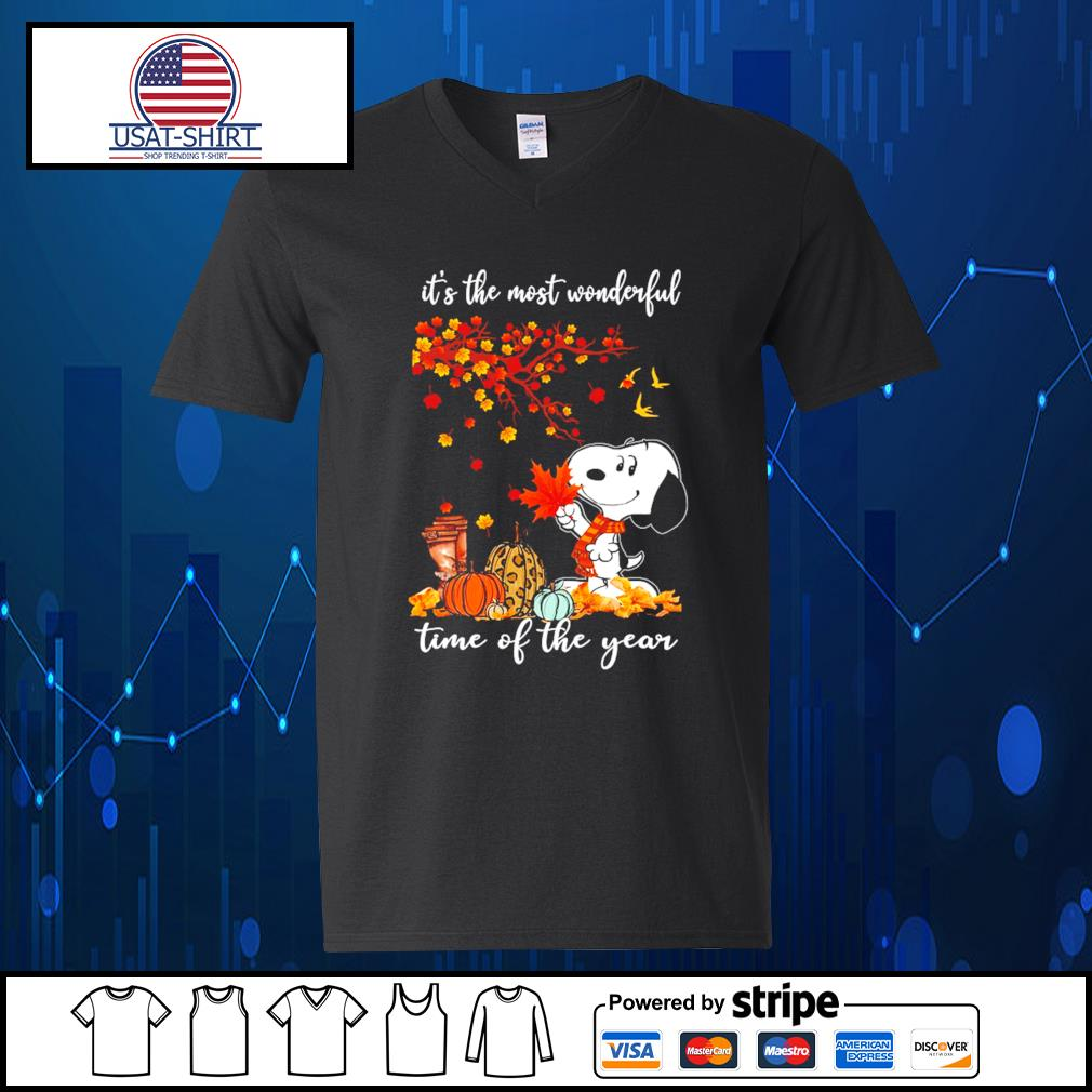 Snoopy it's the most wonderful time of the year s V-neck-T-shirt