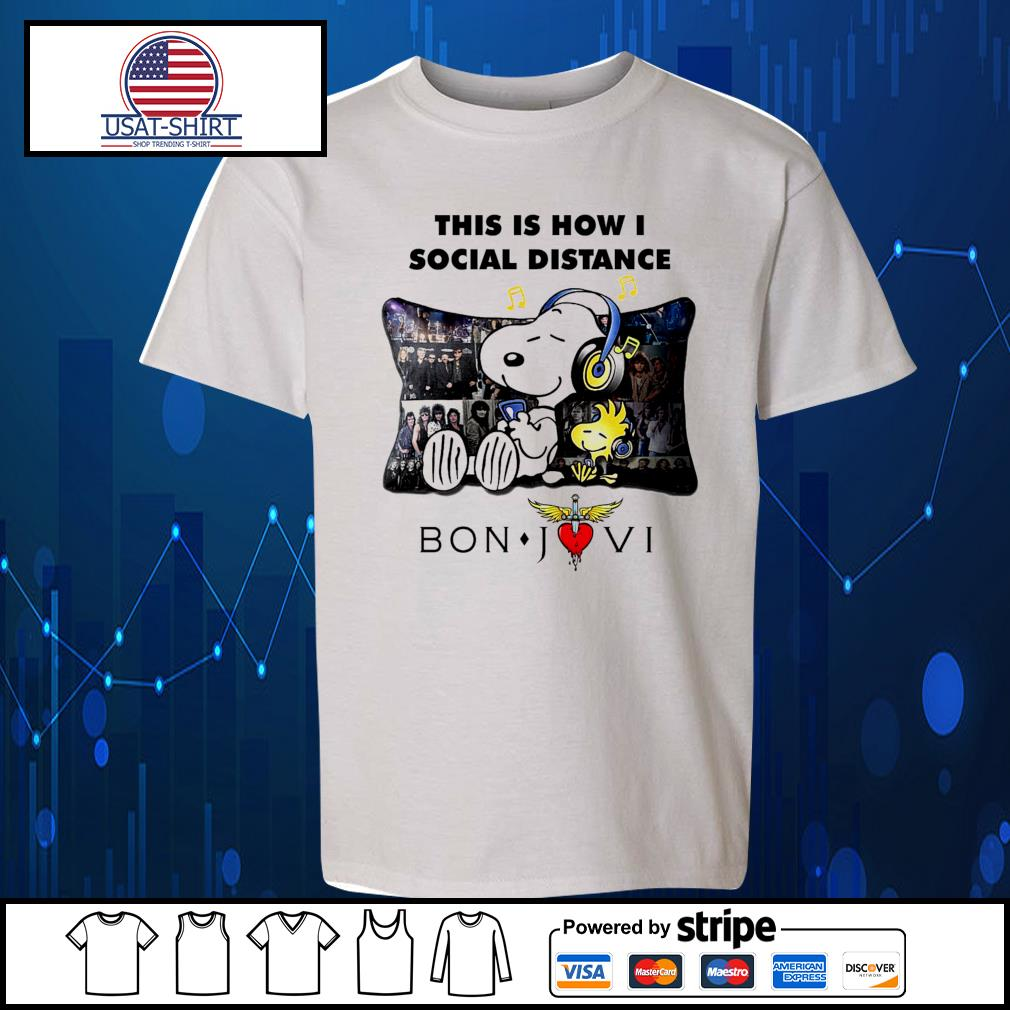 Snoopy this is how I social distance Bon Jovi s Kid-T-shirt
