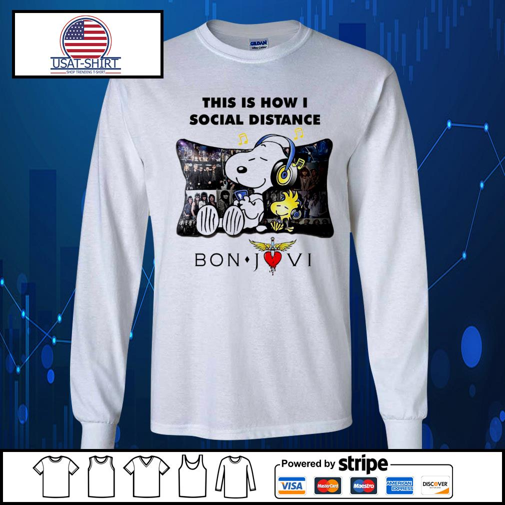 Snoopy this is how I social distance Bon Jovi s Long-Sleeves-Tee