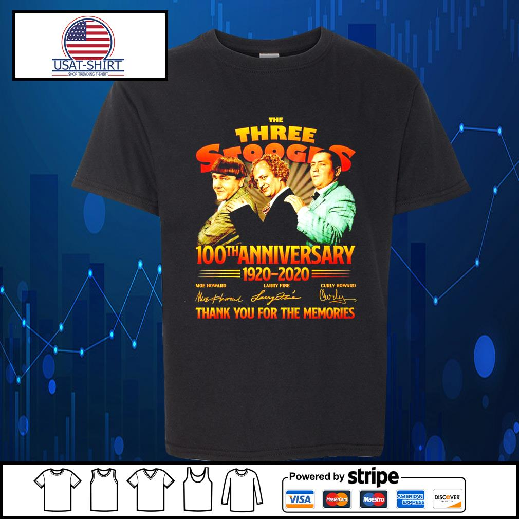 The Three Stooges 100th anniverary 1920 2020 thank you for the memories s Kid-T-shirt