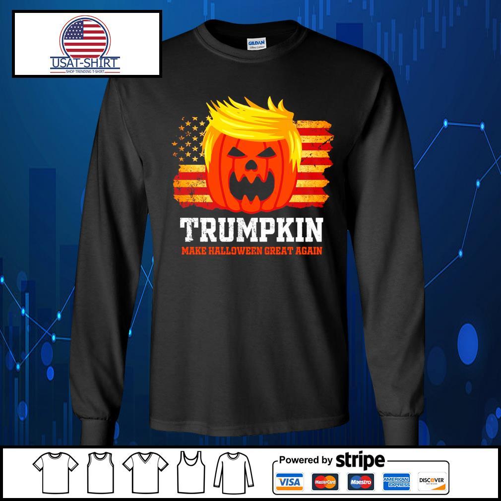 Trumpkin make halloween great again American s Long-Sleeves-Tee