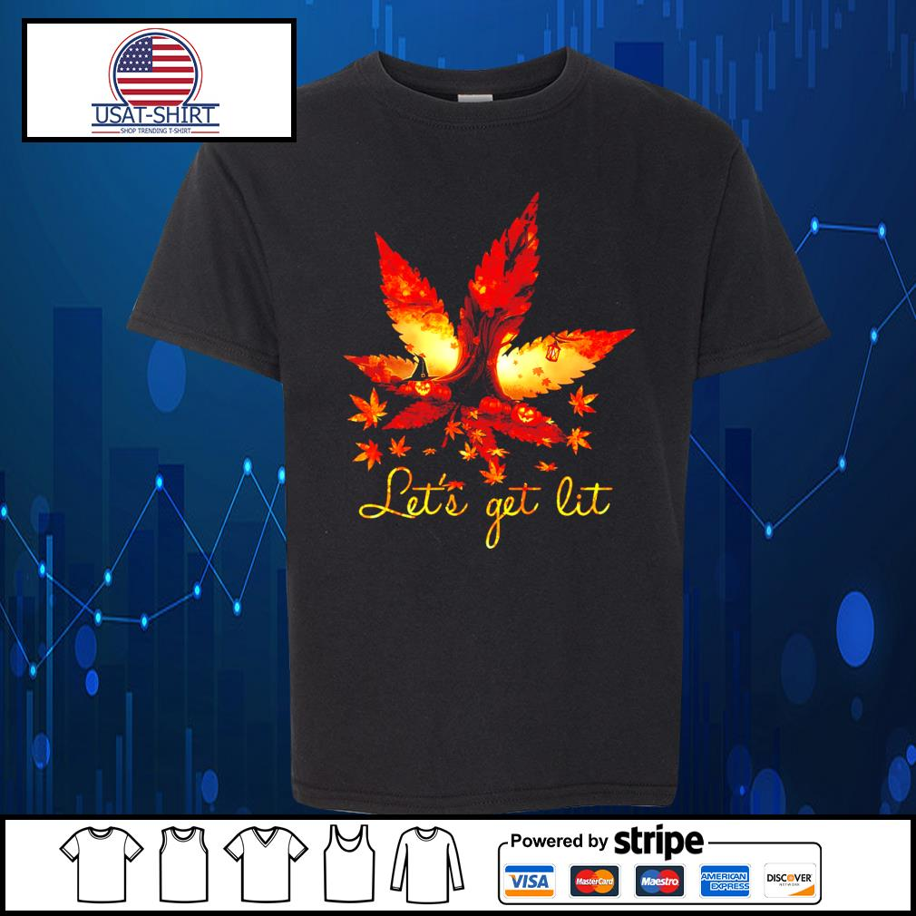 Weed Halloween Let's get lit s Kid-T-shirt