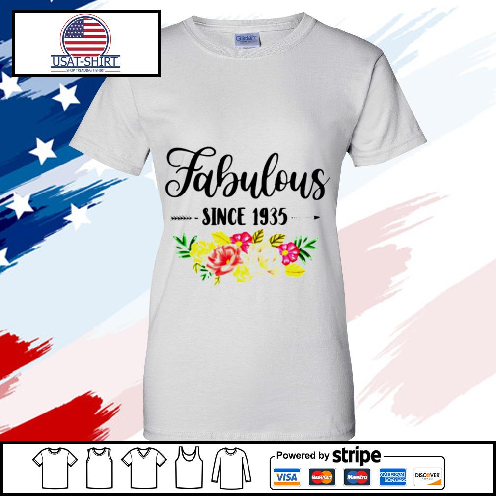85 Year Old Fabulous Since 1935 s ladies tee