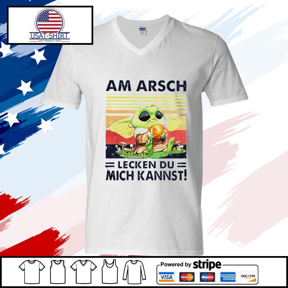 Am Arsch Lecken Du Mich Kannst Vintage Hemd s v-neck-t-shirt