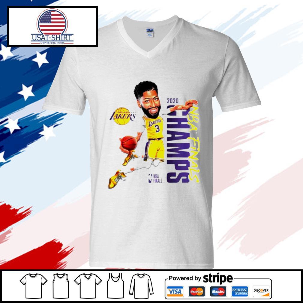 Anthony Davis LA Lakers Champions 2020 s v-neck-t-shirt