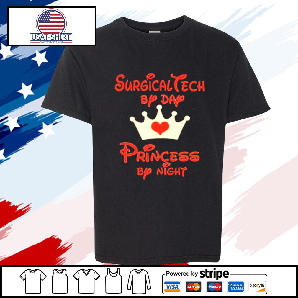Disney surgical tech by day princess by night heart s youth-tee