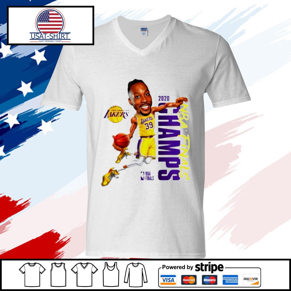 Dwight Howard Team Los Angeles Lakers Branded 2020 NBA Finals Champions s v-neck-t-shirt