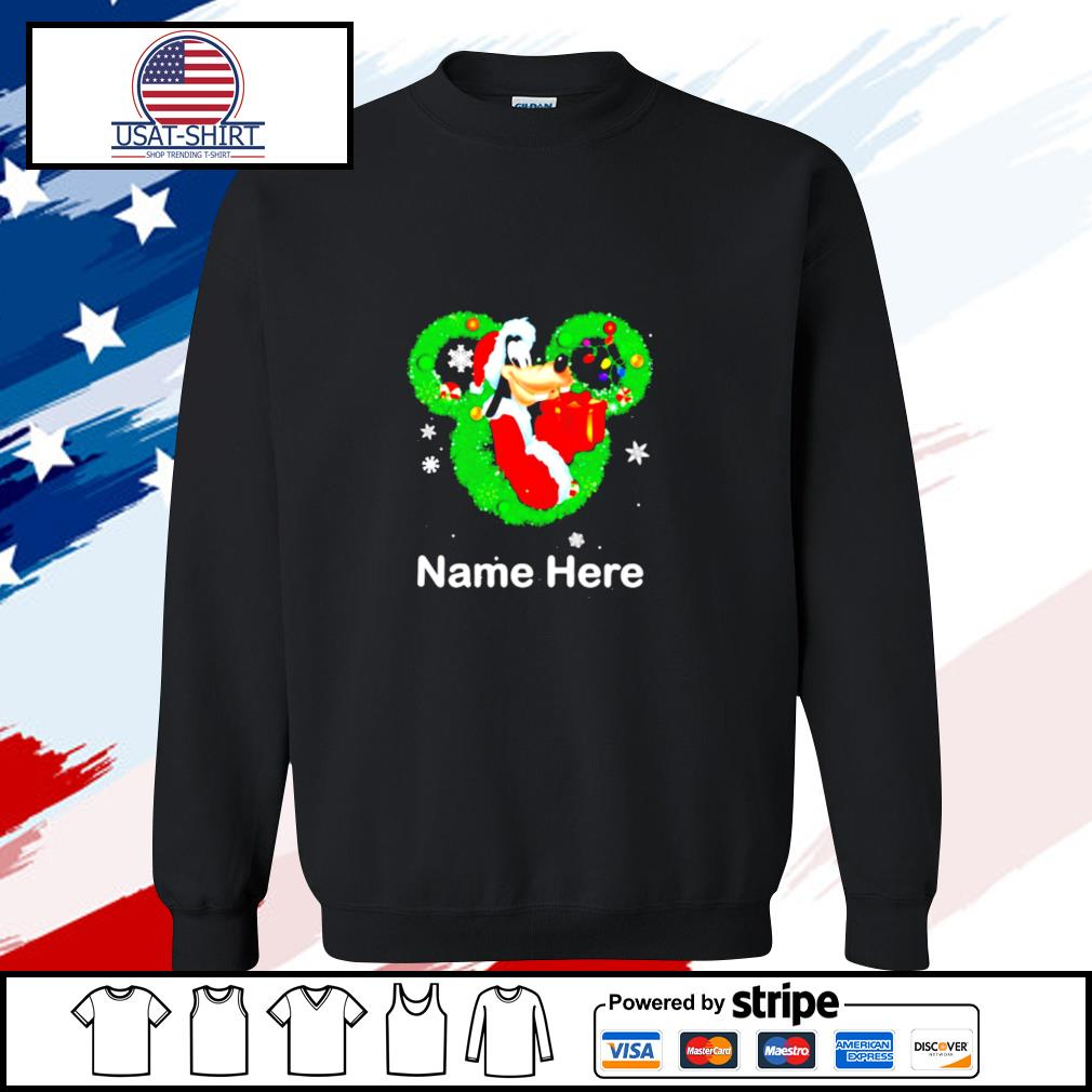 Goofy dog mickey mouse name here christmas s sweater