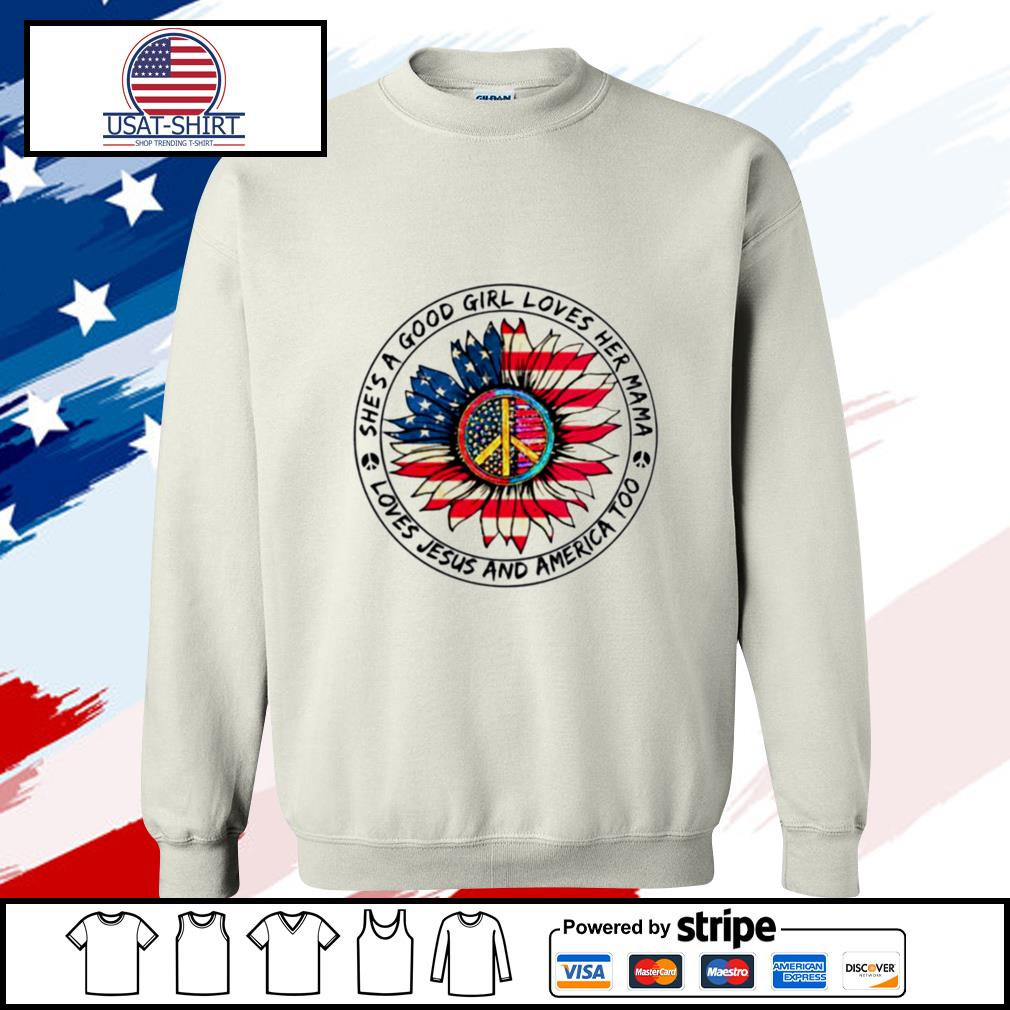 Hippie Sunflower She's A Good Girl Loves Her Mama Loves Jesus And America Too s sweater