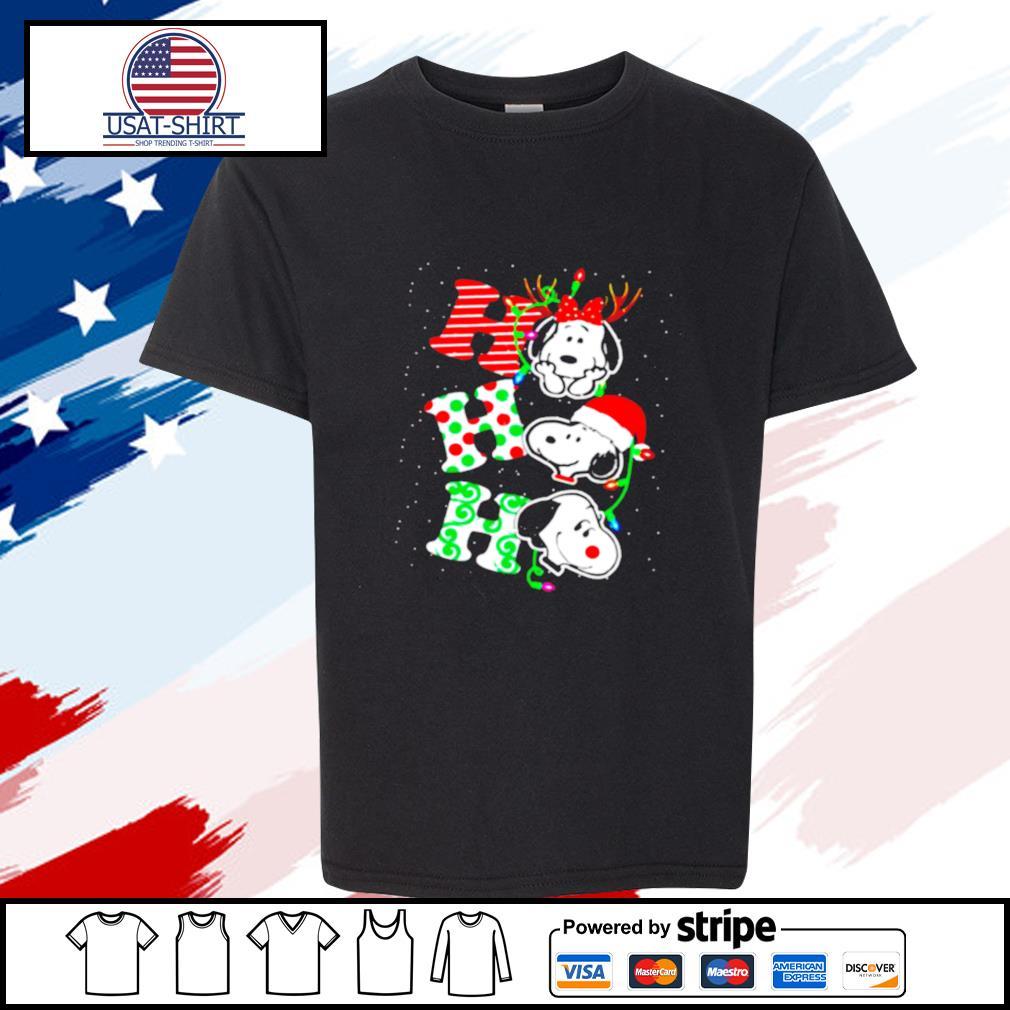 Ho Ho Ho Snoopy Christmas s youth-tee