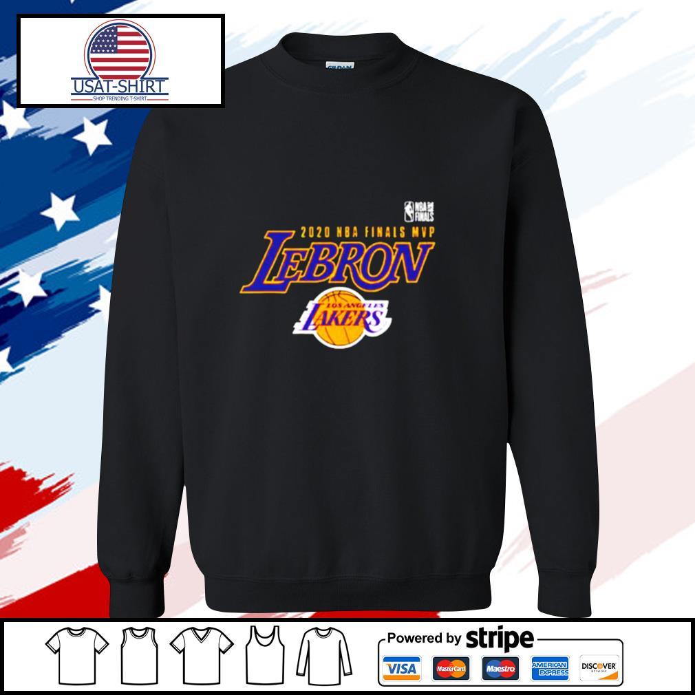 LeBron James Black Los Angeles Lakers 2020 NBA Finals Champions MVP s sweater